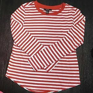 NEW LIST Striped long sleeve tee. Sz sm Forever 21